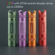 สีเขียว/สีม่วง/Orange/Red Convoy S21Aพร้อมLuminus SST40,Orange Peel Reflector