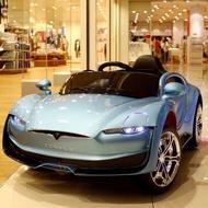 嬰幼兒童電動車特斯拉4輪可坐小孩充電玩具汽車男女寶遙控電瓶車
