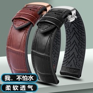 Rolex watch strap suitable for Rolex Water Ghost IWC IWC leather strap waterproof rubber silicone watch strap male 20 22