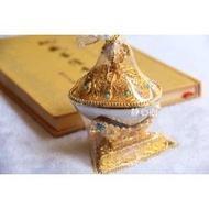 佛教用品密宗供具法器貢品 精美鍍金合金托巴拖巴嘎巴拉小號10cm