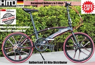 ⭐Local Stock⭐🔥Authorised SG HITO DISTRIBUTOR🔥 Hito X6:22 Inch Magnesium Aluminium Foldable Bicycle