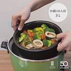 【陸寶陶鍋】健康內鍋3.0L 適用大同電鍋10人份 直火電鍋雙用禪風黑