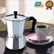 กาต้มกาแฟสดเครื่องชงกาแฟสด แบบปิคนิคพกพา ใช้ทำกาแฟสดทานได้ทุกที  ขนาด 3 Cup 150 ml (สีเงิน)