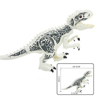 Big Size 24-28cm White T-rex Lego Jurassic Park Tyrannosaurus Dinosaurs Figure Building Blocks Toys Gifts