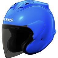 ZX 3/4素色安全帽 亮藍 買一送一