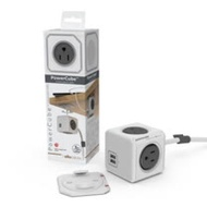 【PowerCube】魔術方塊延長線 (雙USB 2.1A+4插座+1.5米) 灰色
