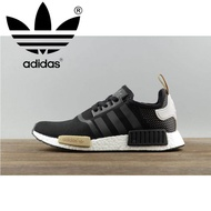 _Adidas_NMD Runner PK OG Breathable New Men's classic Running Shoes Sneakers BA7751 40-45 Black yellow
