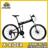 British Raleigh Foldable Bike Folding Bike Variable Speed Double Disc Brake Off-Road Mountain Bike Aluminum Alloy Racing Bike