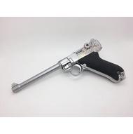 < WLder > WE P08 魯格 6吋 全金屬 瓦斯槍 銀(BB槍BB彈玩具槍手槍CO2槍短槍模型槍直壓槍LUGER P-08 德國 軍官 二戰 M版