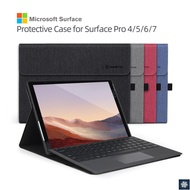 Tablet Case for Microsoft Surface Pro 7, Surface Pro 4, Surface Pro 5, Surface Pro 6 and Surface Go1/Go2 Protective Stand Cover Fold Holder,Compatible with Type Cover Keyboard