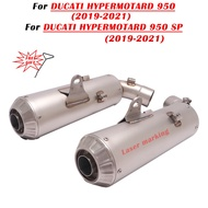 For Ducati Hypermotard 950 Motorcycle Double Exhaust Muffler Link Pipe for Ducati Hypermotard 950 SP Double hole Exhasut Pipe
