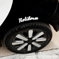 ROTIFORM wheel eyebrow stickers fender car stickers HELLAFLUSHJDM decorative stickers reflective car stickers