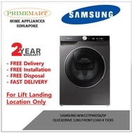 SAMSUNG WW12TP94DSX/SP QUICKDRIVE 12KG FRONT LOAD 4 TICKS - 2 YEARS LOCAL MANUFACTURER WARRANTY