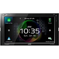 """JVC KW-M865BW Bluetooth Car Stereo Receiver with USB Port– 6.8"""" Touchscreen Display - AM/FM Radio - MP3 Player -Double DIN – 13-Band EQ – SiriusXM, with Apple CarPlay and Android Auto (Black)"""