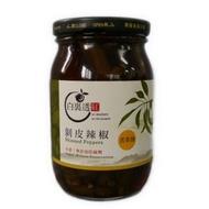 【白裏透紅】剝皮辣椒-苦茶油口味(450g)
