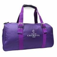 Charriol 夏利豪紫色旅行袋圓筒包手提包