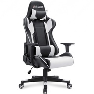 Homall Gaming Chair Office Chair High Back Computer Chair PU Leather Desk Chair PC Racing Executive Ergonomic Adjustable Swivel Task Chair with Headrest and Lumbar Support (White)