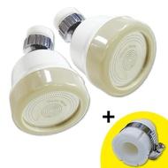 水摩爾三段增壓水花轉換器2入(白色款)+無牙規轉接頭