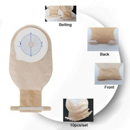 30pcs 65mm Cut Size Beige Cover Drainable one-piece System Ostomy Bag Colostomy Bag Pouch Ostomy Stoma