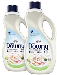 DOWNY - 美國大容量 Downy Nature Blends 柔順劑, 玫瑰水和蘆薈, 44oz(1.33L) x2 (2支 = 2.66L)-平行進口