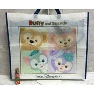 【Dona日貨】日本迪士尼海洋限定 Duffy達菲熊雪莉玫畫家貓史黛拉兔 環保購物袋/手提袋 F25