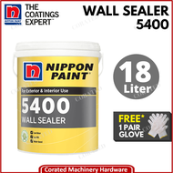 [CORATED] Nippon Paint Exterior / Interior 5400 Wall Sealer ( Cat Luar / Dalam ) 18 Liter **FREE 1 HAND GLOVE