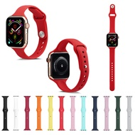 Silicone Strap for Apple Watch 42mm 38mm 40mm 44mm Rubber Band for apple watch Series 5 4 3 2 1