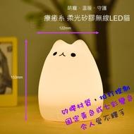 [現貨供應]●療癒系●(可變柔黃或七彩)貓咪小夜燈 拍打控制 USB充電 床頭燈 造型燈 led 蠟燭燈 七彩福貓 貓燈