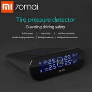 Xiaomi 70mai TPMS Tire Pressure Tester Monitor Solar Power Dual USB Charging 4 Built-in Sensors