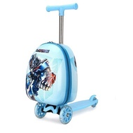 FirstMeetเด็กรถเข็นสกู๊ตเตอร์กระเป๋าเดินทางการ์ตูนกระเป๋าเดินทาง15นิ้วพกพากระเป๋าเดินทางแบบลาก
