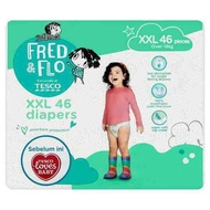 Tesco Fred & Flo Diapers XXL Over 14kg 46 Pieces