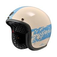【ASTONE】SP3 AT21 彩繪 (象牙白/藍) 復古帽 3/4罩安全帽