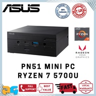 ASUS PN51-B7121MD / AMD Ryzen 7 5700U / Barebone Mini PC for Office Media Study