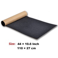 "Zwish Skateboard Grip Tape 45.2"" x 10.6"" Bubble Free Scooter Grip Longboard Skateboard Griptape Sheet Waterproof Sandpaper for Rollerboard, Stairs, Pedal, Wheelchair, Steps (115x27cm,Black)"