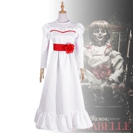 安娜貝爾2誕生恐怖娃娃黑白色連衣裙 萬圣節親子cosplay服