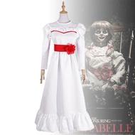 【萬聖節】安娜貝爾2誕生 COS 恐怖娃娃 cosplay服裝 萬聖節 親子cos服 安娜貝爾白裙子