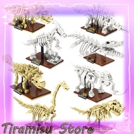 Jurassic Park Dinosaur Museum Tyrannosaurus Rex Fossil Skeleton Model Childrens Assembled Compatible with Lego Building Block Kids Toys