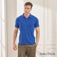 Nautica簡約素色純棉短袖POLO衫-寶藍