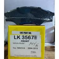 LKC BRAKE PADS FOR TOYOTA INNOVA 2004-2015