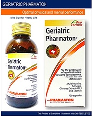 [USA]_Pharmaton Geriatric (Pack Size 100 Capsules) Once Daily Multivitamins + Minerals + Ginseng Ext