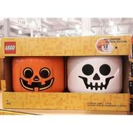 【好市多正品】LEGO 樂高 L號 萬聖節大頭收納盒 收納組 收納 人頭收納盒 南瓜 骷髏頭 糖果罐 萬聖節裝飾