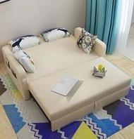 沙發床 多功能沙發床可折疊客廳小戶型雙人實木1.8米1.5簡約現代坐臥兩用 mks韓菲兒