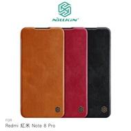 強尼拍賣~NILLKIN Redmi 紅米 Note 8 Pro 秦系列皮套 可插卡 高出鏡頭 無磁吸