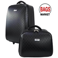 ราคาถูกที่สุด WHEAL กระเป๋าเดินทางเซ็ทคู่ 20/14 นิ้ว ระบบรหัสล๊อค B-Chanel F780720-1 (Black) ลิขสิทธิ์แบรนด์แท้ จากโรงงานผู้ผลิต บริการเก็บเงินปลายทาง