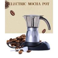 Promotion!!electric moka pot 6 cup กาต้มกาแฟสดmokapot แบบไฟฟ้าใช้งานง่ายได้รสชาติกาแฟสดแบบเครื่องทำกาแฟแรงดันราคาแพงๆสินค้ามีจำนวนจำกัด