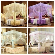 No Frame Bed Canopy Netting Encryption Lace Mosquito Net Princess Bedding Full Queen King Size