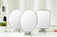 雙面臺式化妝鏡 手柄鏡子 便攜摺疊壁掛鏡多功能高清帶放大美容鏡
