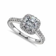 แหวนหมั้นแต่งงานชุบทองคำขาว18K