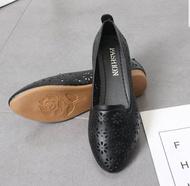 🌸 รองเท้าคัชชูผู้หญิงส้นเตี้ย รองเท้าส้นแบนหุ้มส้นสำหรับผู้หญิง No.F090 🌸