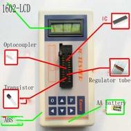 มืออาชีพวงจรรวม IC Tester ทดสอบทรานซิสเตอร์บำรุงรักษาออนไลน์ดิจิตอล LED ทรานซิสเตอร์ IC Tester